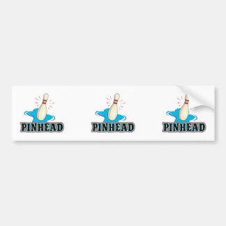 funny pinhead bowling design car bumper sticker