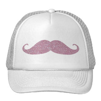 Funny Pink Bling Mustache Hats