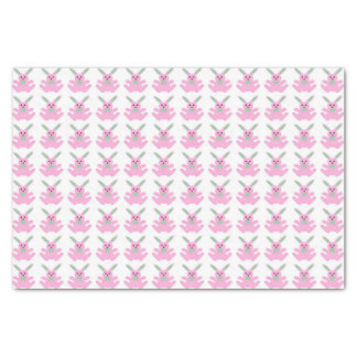 """Funny Pink Easter Bunnies 10"""" X 15"""" Tissue Paper"""