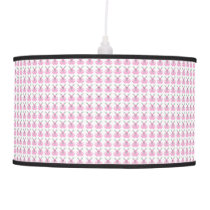 Funny Pink Easter Bunnies Hanging Lamp
