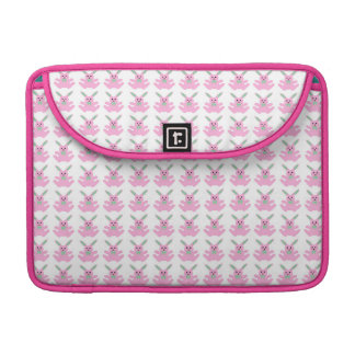 Funny Pink Easter Bunnies Sleeve For MacBooks