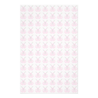 Funny Pink Easter Bunnies Stationery