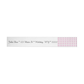 Funny Pink Easter Bunnies Wrap Around Address Label