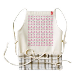 Funny Pink Easter Bunnies Zazzle HEART Apron