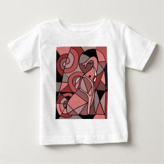 Funny Pink Elephant Abstract Art Original Baby T-Shirt