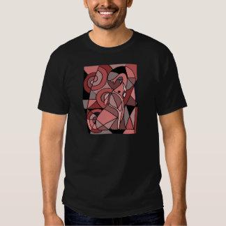 Funny Pink Elephant Abstract Art Original Tee Shirt