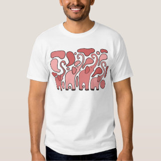 Funny Pink Elephant Art T-shirt