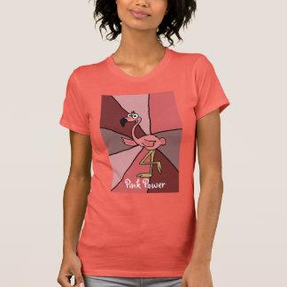 Funny Pink Flamingo Art Tee Shirts