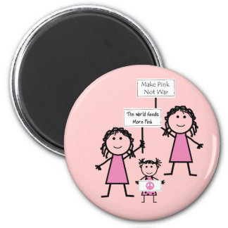 Funny Pink Girly Magnets