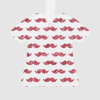 Funny Pink Glitter Mustache Pattern Printed