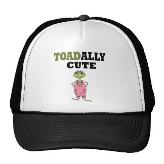 Funny Pink Overalls Frog Trucker Hat