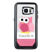 Funny Pink Owl Personalized Samsung Galaxy S7 Edge