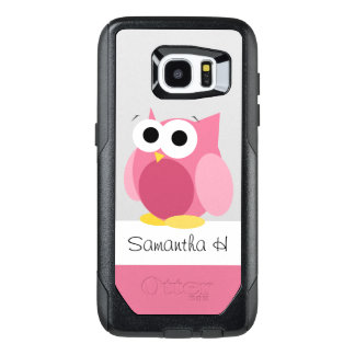 Funny Pink Owl Personalized Samsung Galaxy S7 Edge OtterBox Samsung Galaxy S7 Edge Case