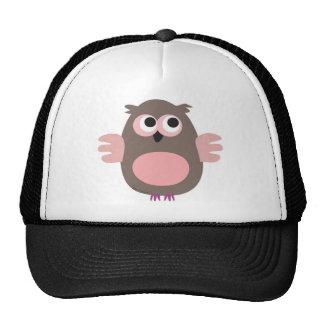Funny pink owl trucker hat