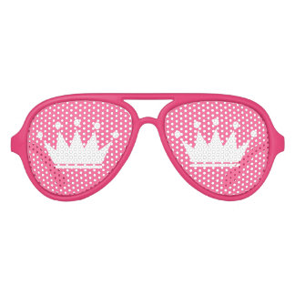 Funny pink party shades with princess crown