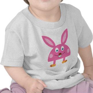 Funny Pink Rabbit T Shirts