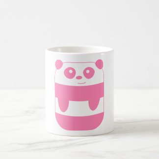 Funny Pink Rectangular Panda Coffee Mug
