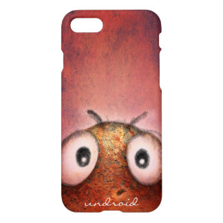 Funny Pink Robot iPhone 7 Case