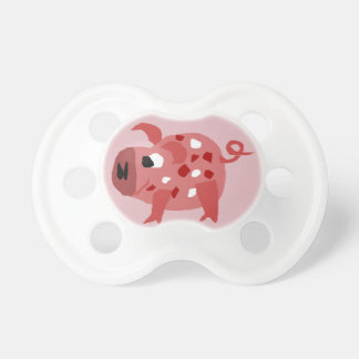 Funny Pink Spotted Pig BooginHead Pacifier