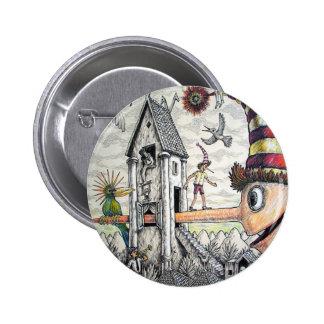 Funny Pinocchio Button