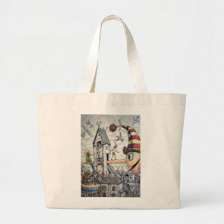 Funny Pinocchio Large Tote Bag