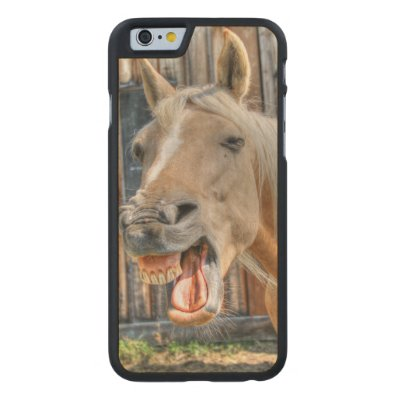 Funny Pinto Horse Face Close-up Photo Gift Carved® Maple iPhone 6 Case