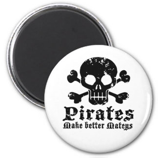 Funny Pirate 2 Inch Round Magnet