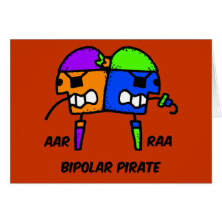 Funny pirate greeting card