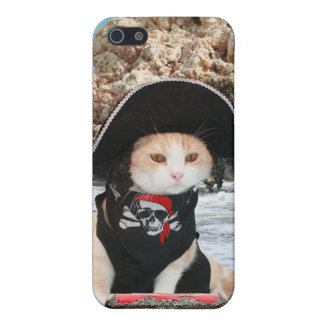 Funny Pirate Cat Kitty iPhone 5 Case