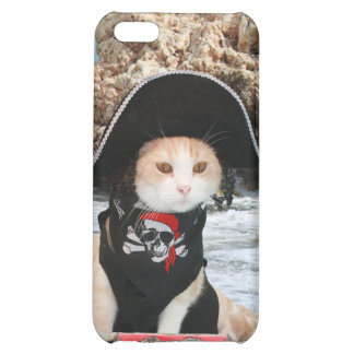 Funny Pirate Cat Kitty Case For iPhone 5C