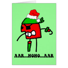 Funny Pirate Christmas Card at Zazzle