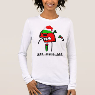 Funny pirate Christmas Long Sleeve T-Shirt