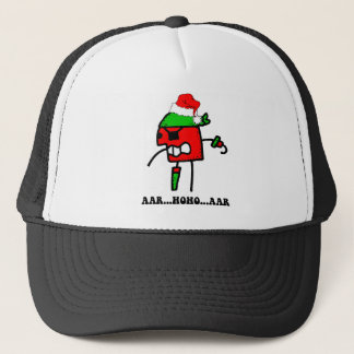Funny pirate Christmas Trucker Hat