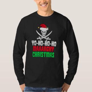 Funny Pirate Christmas Yo Ho Ho Ho T-Shirt