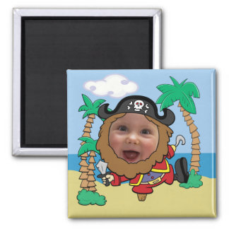 Funny Pirate Cut Out Face Template Magnet