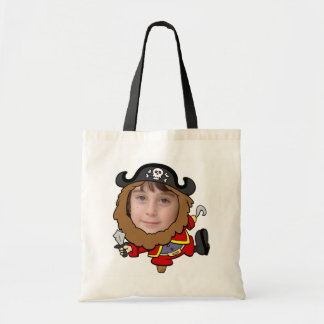 Funny Pirate Cut Out Face Template Tote Bag