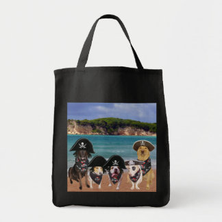 Funny Pirate Dogs Booty Tote Bag
