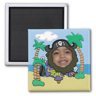 Funny Pirate Face Cut Out Template Magnet