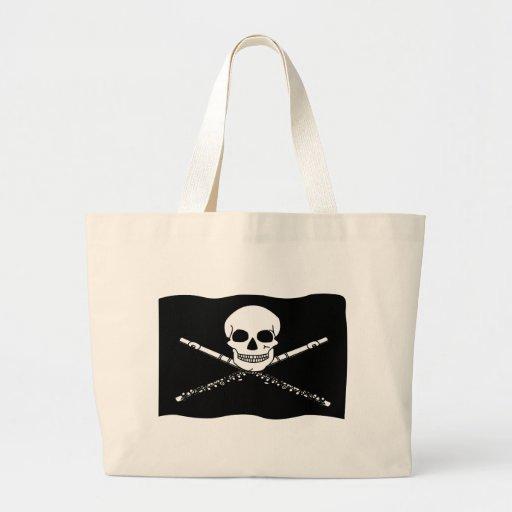 Funny Pirate Flute Tote Bag