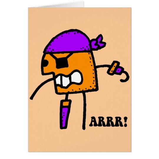 Funny pirate Halloween Card