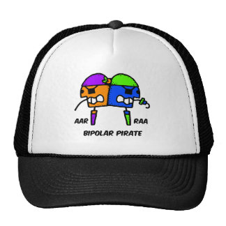 Funny pirate trucker hats