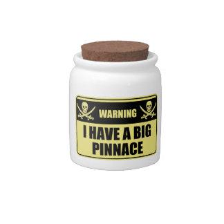 Funny Pirate I Have A Big Pinnace Candy Jar