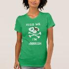 Funny Pirate Kiss me, I'm Arrrish Green T-Shirt