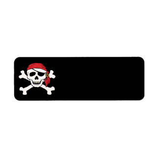 Funny Pirate Custom Return Address Label
