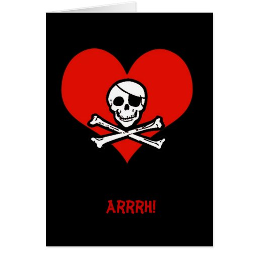 Funny Pirate Me Heartie Valentine Card