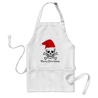 Funny Pirate Merry Christmas Greeting Arrrgh Matey Adult Apron
