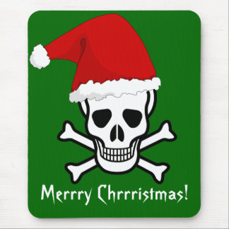 Funny Pirate Merry Christmas Greeting Arrrgh Matey Mouse Pad