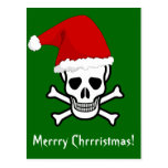 Funny Pirate Merry Christmas Greeting Arrrgh Matey Postcard