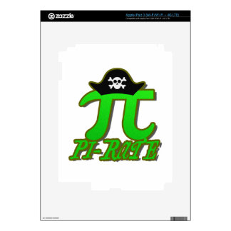 Funny Pirate Pi Decal For iPad 3