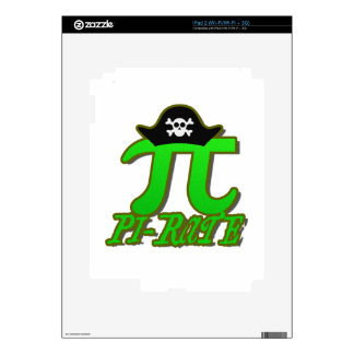Funny Pirate Pi Skins For iPad 2